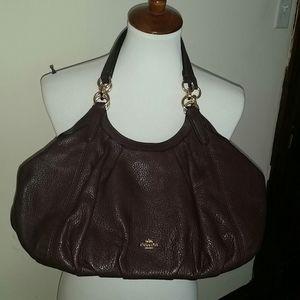 Coach Lily Plum Pebbled Leather Shoulder Bag